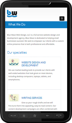 mobile friendly web designer - or responsive design