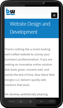 mobile-friendly or responsive web design